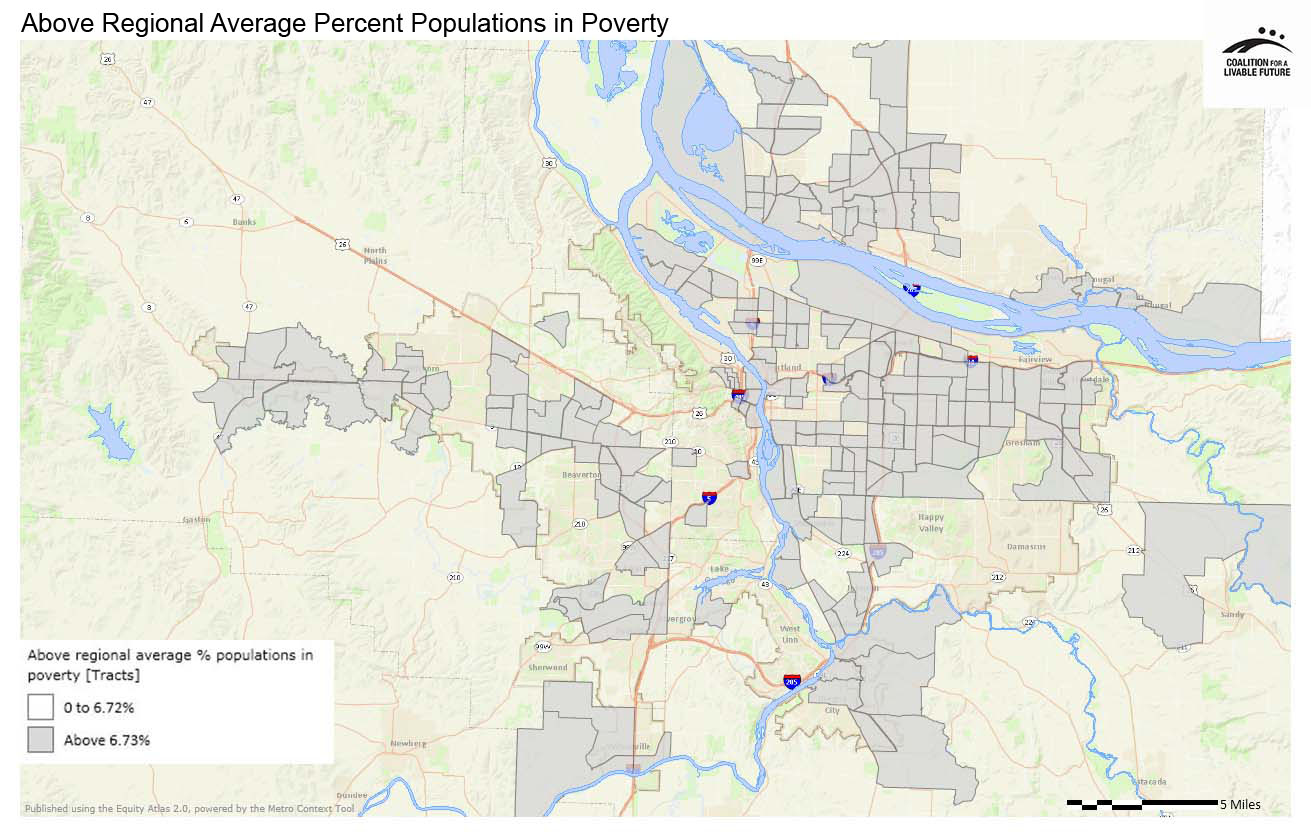 Above Regional Average Percent Populations in Poverty