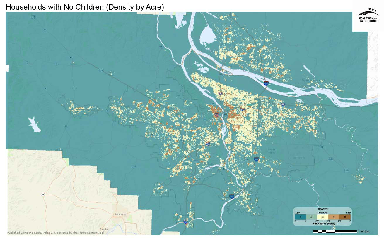 Households with No Children (Density by Acre)