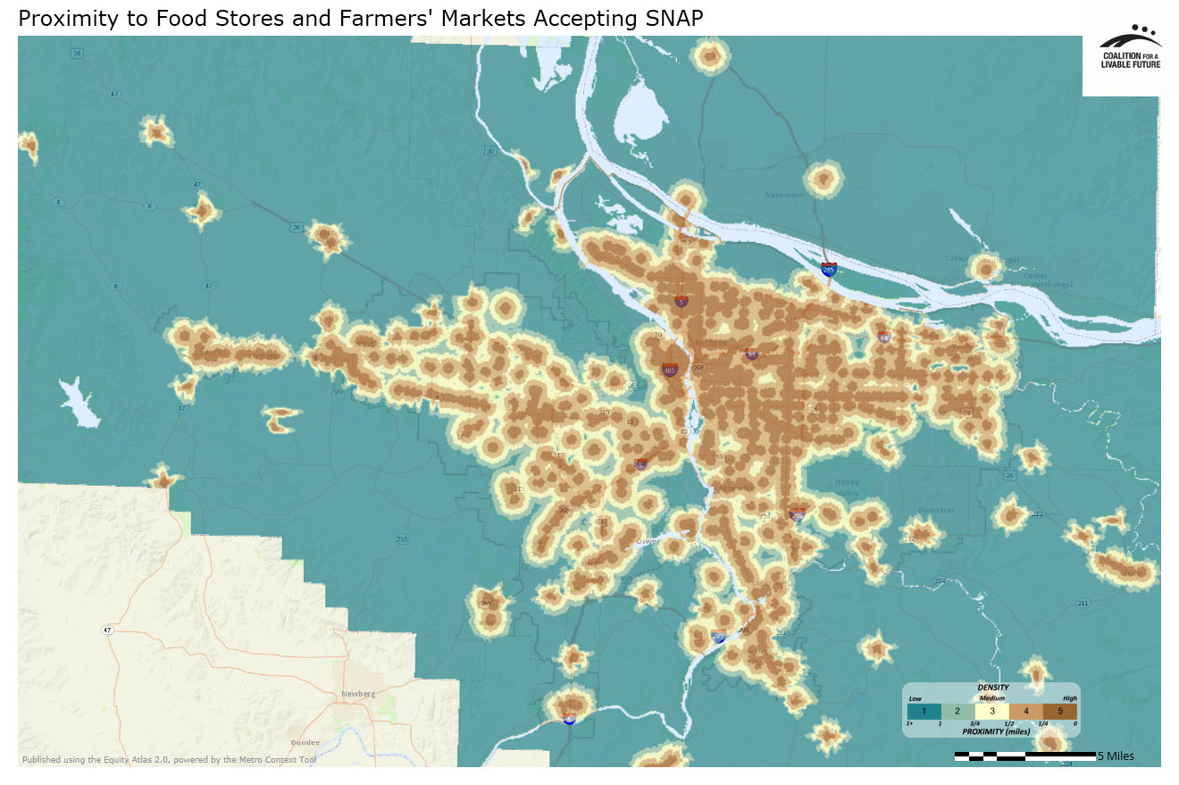 Proximity to Food Stores and Farmers' Markets Accepting SNAP